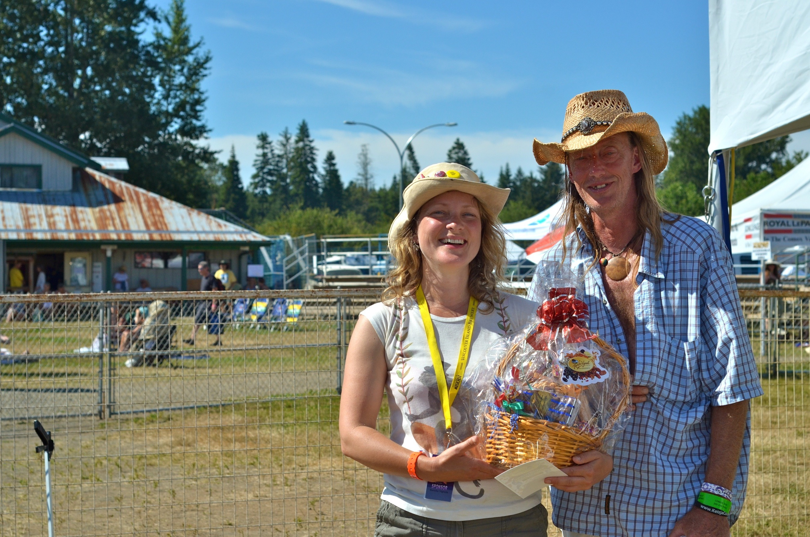 Congratulations, Mike Nultz from Royston, lucky winner of the Rancho Vignola gourmet gift basket at Vancouver Island MusicFest!