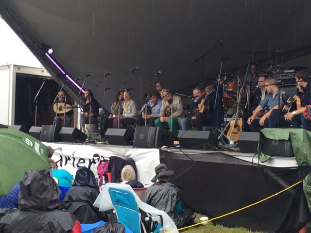 Eclectic gathering of musicians on stage at MusicFest