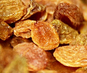 Sultana raisins.