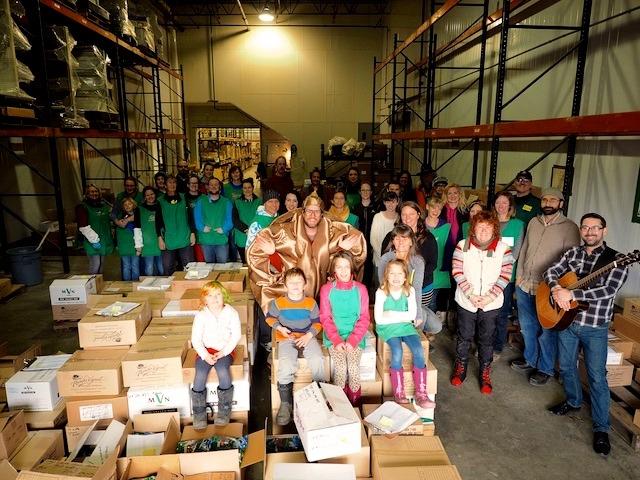 Donation Day volunteers