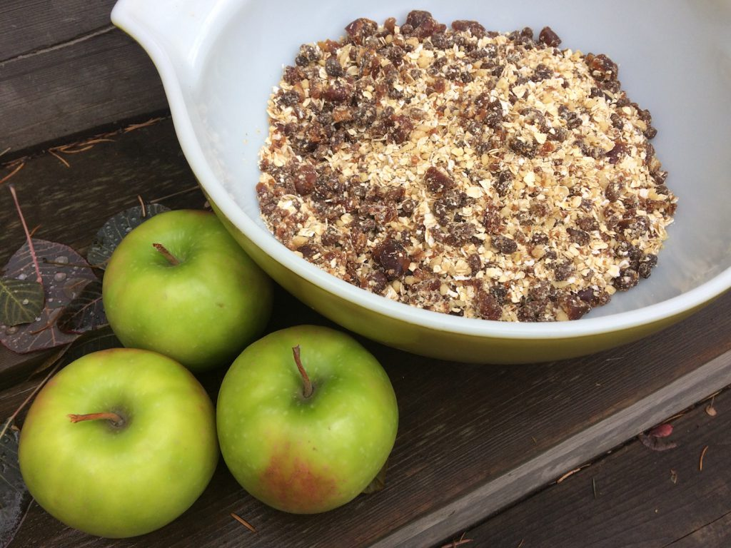 Date Raisin and Apple Bars with Walnuts